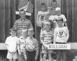DeSales: Frank DeMilde with  Killian Cabin campers