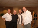 L-R: Ron Kotz, Fr.Tom Hagan, Frank DeMilde, Andy Dunn (2011)after Fr. Tom  preached at St. Thomas More, Troy, MI